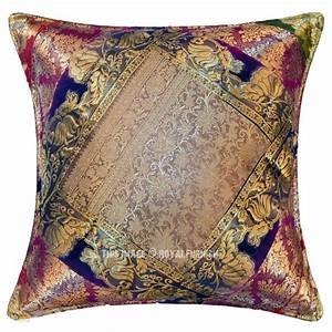 decorative and bohemian multi india old sari made throw With bohemian pillows and throws
