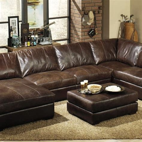 extra deep leather sectional sofa sectional sofa  chaise oversized sectional sofa