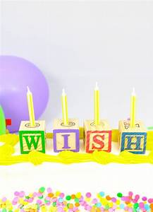 diy alphabet block birthday candles With alphabet letter birthday candles