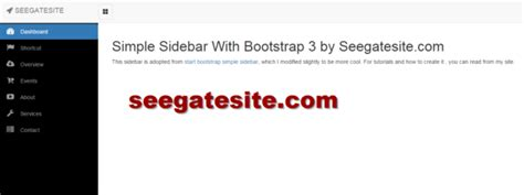 Create Cool Simple Sidebar Menu With Bootstrap 3 And Font