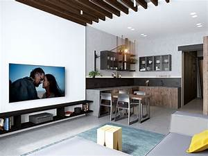 Handsome, Small, Apartments, With, Open, Concept, Layouts