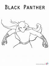 Panther Coloring Pages Marvel Printable Cool Sheets Moive Sketch Superhero Bettercoloring sketch template