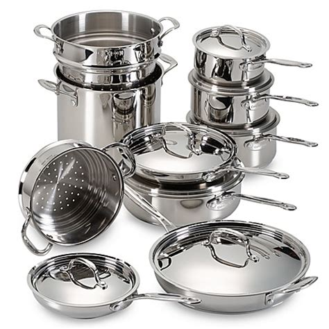 cuisinart stainless steel  piece cookware set bed bath