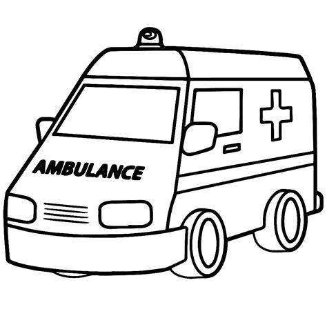 Kleurplaat Ambulance leuk voor ambulance