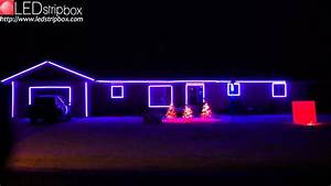 Led Christmas Lights In Houses Happy Holidays