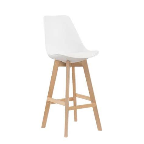 cdiscount chaise de bar lot de 2 tabourets de bar scandinave blanc gala achat