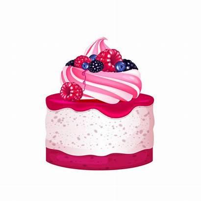 Cheesecake Dessert Realistic Creamy Berries Premium Whipped