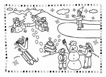 Winter Coloring Activities Outdoor Season Kind