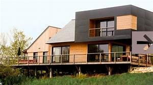 Bardage Façade Maison : fa ade maison bois contemporaine bardage ravalement peinture c t maison ~ Nature-et-papiers.com Idées de Décoration