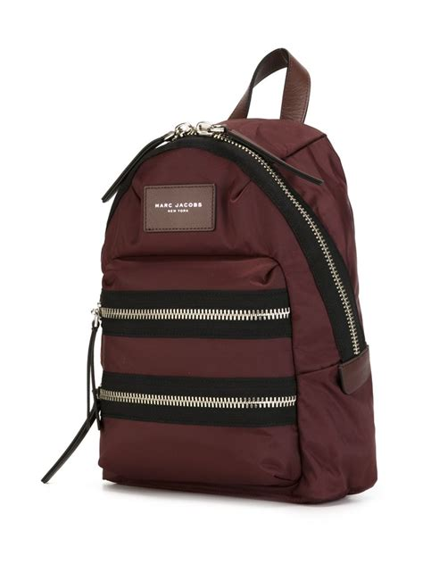 marc jacobs biker mini backpack  brown  men lyst
