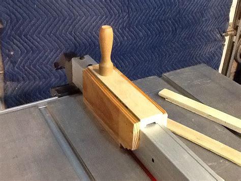sliding thin rip push block  patricks work shop