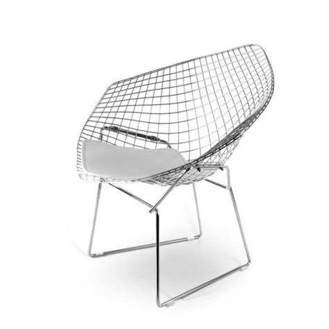 Chaise Harry Bertoia Blanche by Diamond Chair In Het Wit Interior Ideas Pinterest