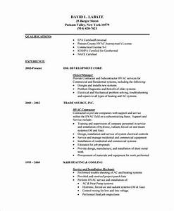hvac resume template 7 free samples examples format With free resume templates pdf format