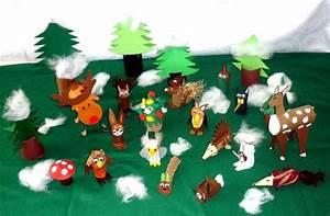 Basteln Winter Kinder : waldtiere im winterwald tiere basteln meine enkel und ich ~ Frokenaadalensverden.com Haus und Dekorationen