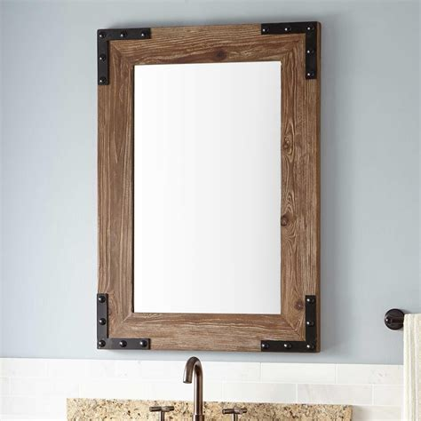 Wood Frame Mirror For Bathroom by 20 Inspirations Wood Framed Mirrors Mirror Ideas