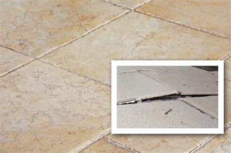 addressing the phenomenon of tented water damaged tile
