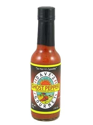 daves ghost pepper naga jolokia hot sauce oz