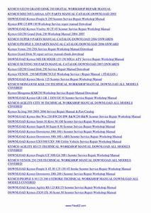 Kymco Repair Manual Mxu250 Atv Service Manual By Nana Hong