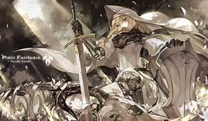 Wallpaper, Fantasy, Art, Anime, Girls, Knight, Armor, Braids, Sword, Original, Characters, Shield