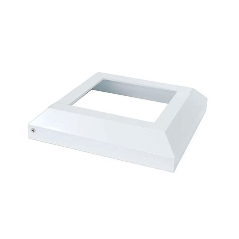 fortress accents 4 in x 4 in white aluminum deck post