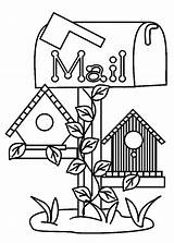 Coloring Bird Pages Mail Box Under Printable Place Getcolorings Tocolor sketch template