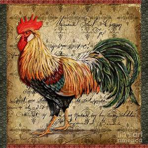 Proud Rooster-c Painting - Proud Rooster-c Fine Art Print ...