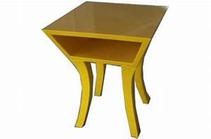 Tables De Chevet Pas Cher : table de chevet jaune jaune design pas cher sur sofactory ~ Voncanada.com Idées de Décoration