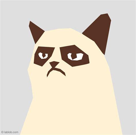 Grumpy Cat Illustration Lablobcom