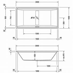 Badewanne 200 X 120 : duravit 2nd floor badewanne rechteck 200 x 100 cm 700161 megabad ~ Bigdaddyawards.com Haus und Dekorationen
