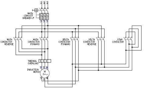 power circuit of a delta or wye delta forward