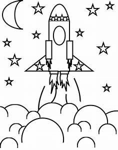 Rocket clipart printable - Pencil and in color rocket ...