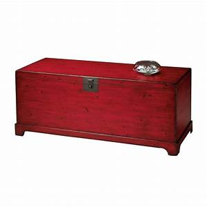 shop butler specialty distressed red rectangular coffee With red distressed coffee table
