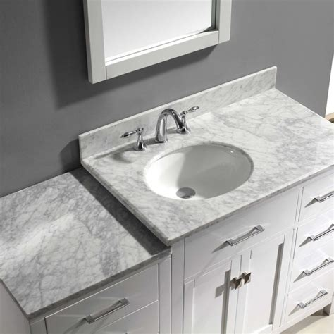 left offset sink vanity virtu caroline parkway ms 2157r 57 in single bathroom