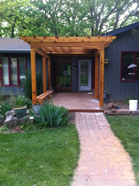 front arbor   cedar traditional entry st