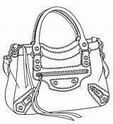 Drawing Bags Coach Purses Getdrawings sketch template
