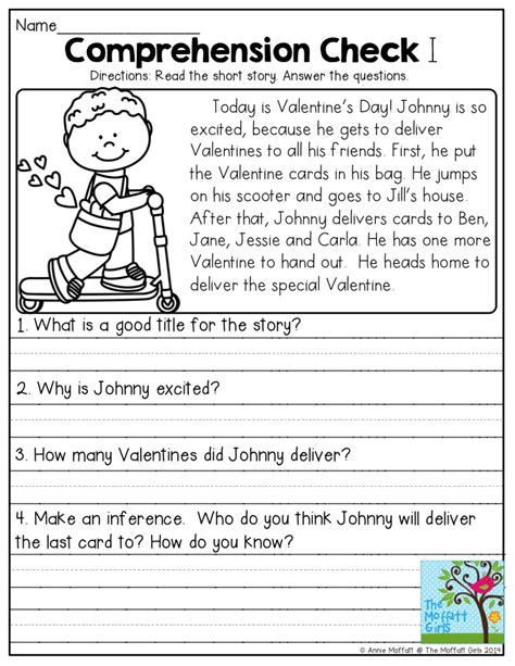 comprehension check read the story and answer the