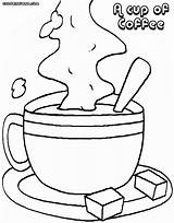 Coffee Coloring Pages Colorings sketch template