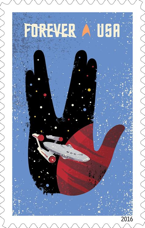 'Star Trek' 50th Anniversary Postage Stamps: USPS Photos ...
