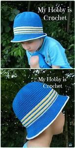 Crochet Boys Sun Hat Free Patterns  U0026 Instructions