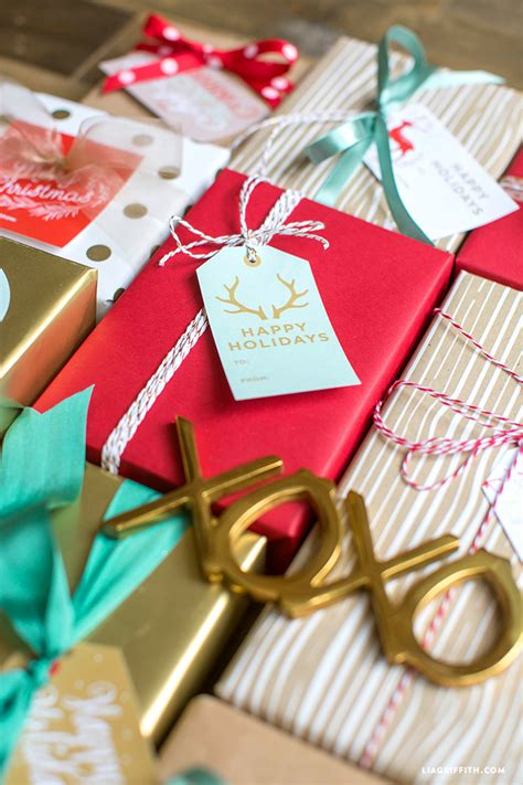 printable holiday gift labels tags   lia griffith