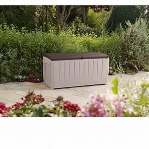 Auflagenbox Mit Sitzfunktion : keter auflagenbox kissenbox gartenbox kissenauflagenbox novel box kiste 340 l ebay ~ Buech-reservation.com Haus und Dekorationen