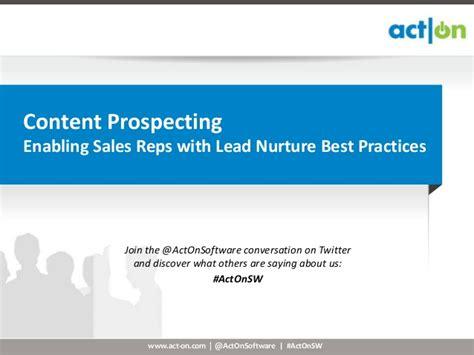 content prospecting enabling sales  lead nurture