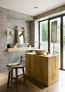 salle de bain en pierre naturelle pour une ambiance minerale With salle de bain design avec evier pierre naturelle