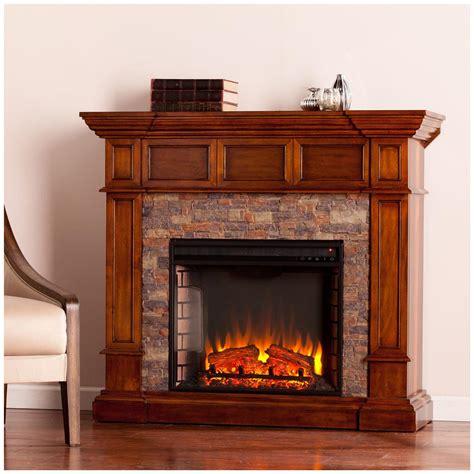 Southern Enterprises Merrimack Electric Fireplace, Buckeye