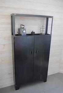 Buffet Haut Industriel : placard en acier style industriel sur mesure fabriqu ~ Teatrodelosmanantiales.com Idées de Décoration