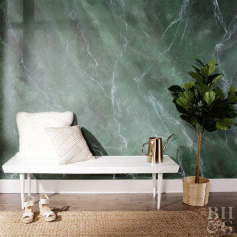 paint  marble inspired wall  homes gardens