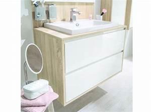 Idee decoration salle de bain meuble sous vasque avec for Deco cuisine pour meuble salle bain