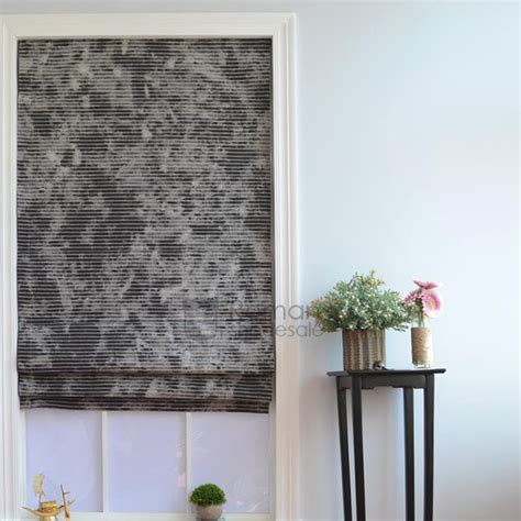 cool flat shaped cotton tie dye black roman shades