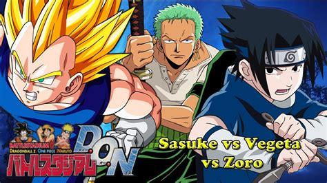 vegeta sasuke zoro vs stadium