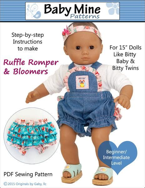 baby  ruffle romper  bloomers doll clothes pattern